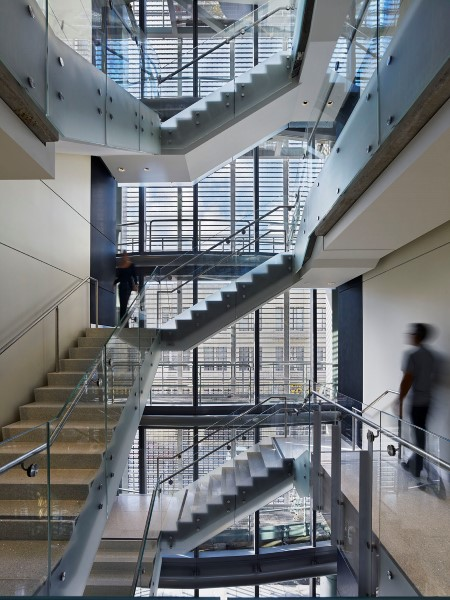 Reinventing stairways to promote health productivity for Pre built stairs interior