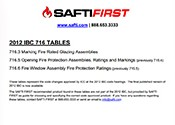 2012 IBC Chapter 716 tables | SAFTI FIRST