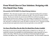 Designing with fire rated glass today | SAFTI FIRST
