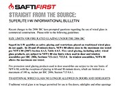 SAFTI FIRST: Straight from the source