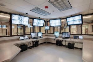 SuperSecure II-XLS with Level III Ballistic/Grade 2 Attack and one-way reflective glass in SAFTIfire Ballistic Framing for the control rooms.