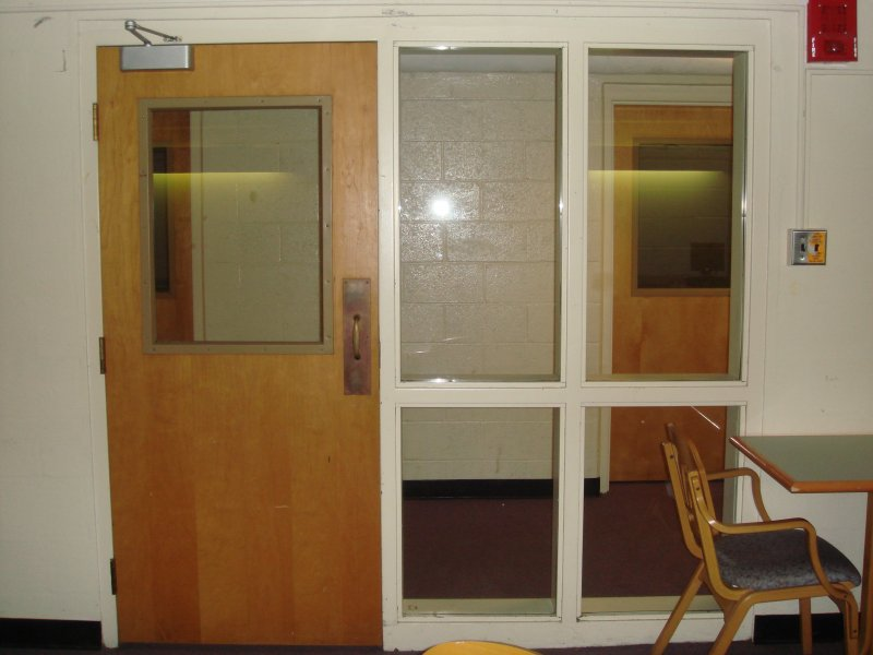 Middlebury College Replaced Unsafe Wired Glass In And Around This Dormitory Door With Superlite I Vision Panel Ii Xl Sidelites