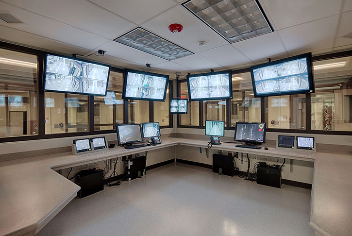 SuperSecure II-XLS with Level III Ballistic/Grade 2 Attack and one-way reflective glass by SAFTI FIRST for the control rooms at Plaquemines Parish Detention Center in Davant, LA