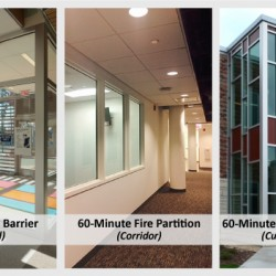 60-Minute Fire Rated Glass for Stairwell, corridor or curtain walls | SAFTI FIRST