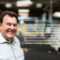 """""""Saying what you do, and doing what you say"""" - Bill O'Keeffe's, SAFTI FIRST"""