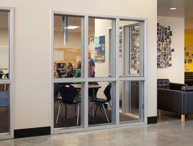 1 hour corridors with 45-minute fire protective openings with SuperLite II-XL 45 in GPX Builders Series Framing