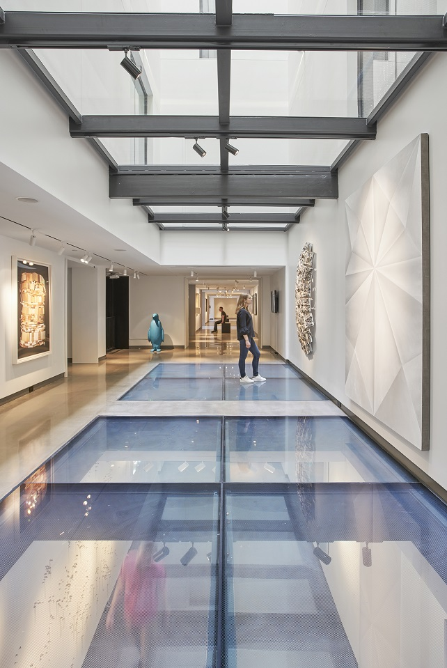 Fire rated resistive glass floors at 21c Museum in Nashville