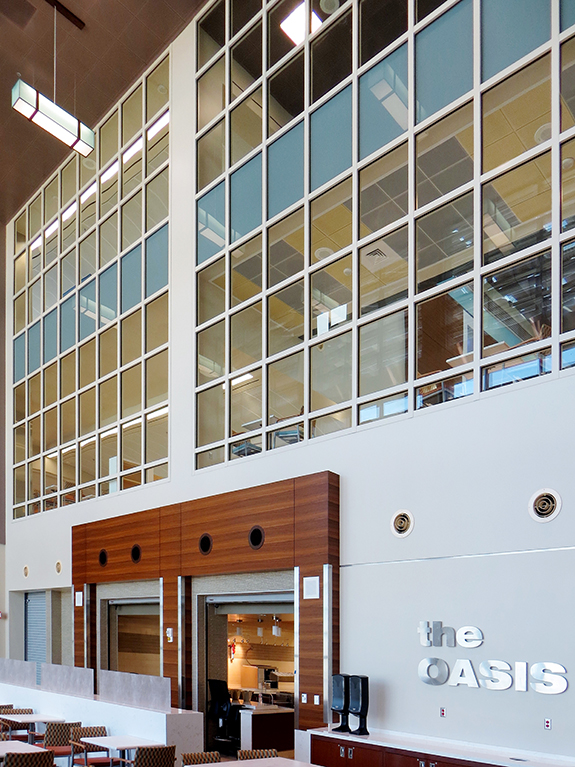 1 Hour Fire Resistive Rated Atrium with SuperLite II-XL 60 and Spandrel Glass in GPX Architectural Series Framig