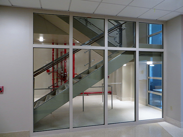 2 Hour Fire Resistive Rated Stairwell with SuperLite II-XL 120 in GPX Architectural Series Framing